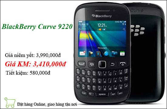BlackBerry Curve 9220 khuyến mãi lên đến 1 triệu đồng