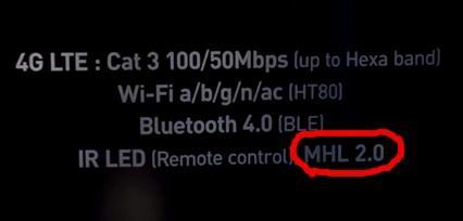 Hỗ trợ kết nối không dây MHL 2.0