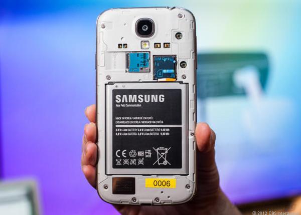 Galaxy S4 sử dụng pin Li-Ion 2600 mAh
