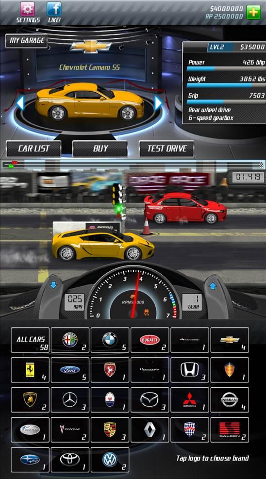 8. Drag Racing (miễn phí)