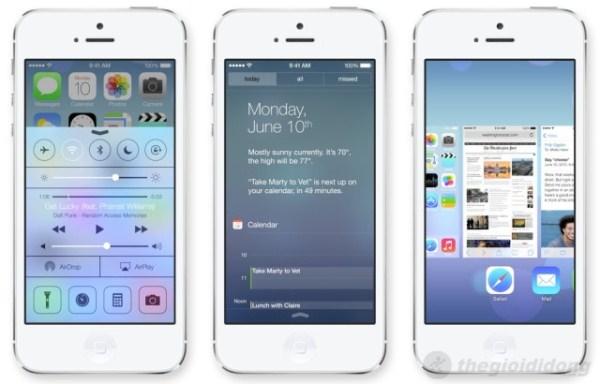iOS 7 thiết kế hiện đại
