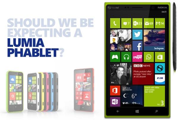 Nokia Lumia phablet sẽ có màn hình 5.5 inch?