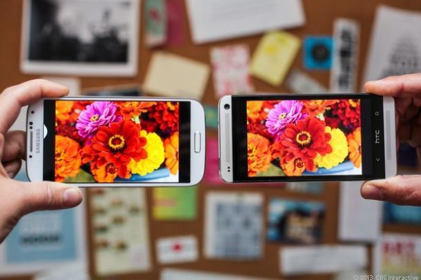 Xét tổng thể, Galaxy S4 và HTC One có màn hình tốt nhất