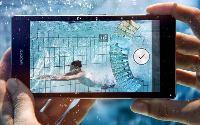 Xperia Z1 đạt tiêu chuẩn chống nước IP58 nên có thể chụp hình dưới nước