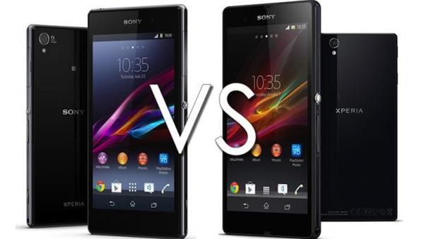 Xperia Z (phải) vs Xperia Z1 (trái)