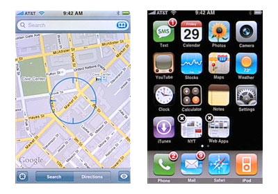 Lịch sử iOS – Kì 1: iOS 1 và sự ra đời của iPhone google map ứng dụng