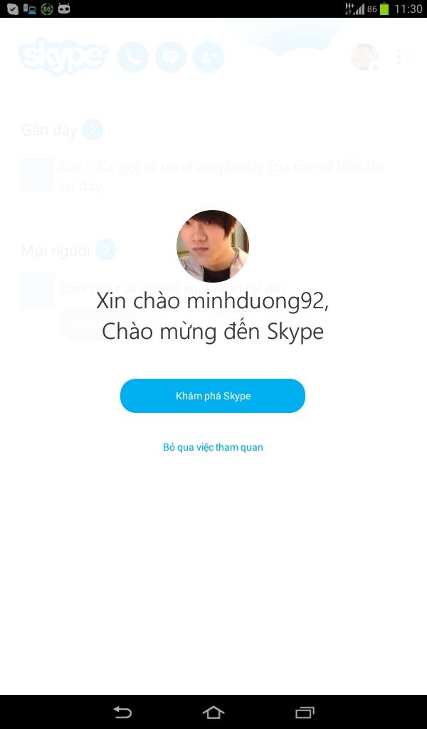 Gọi và nhắn tin miễn phí chất lượng cao trên Skype Android