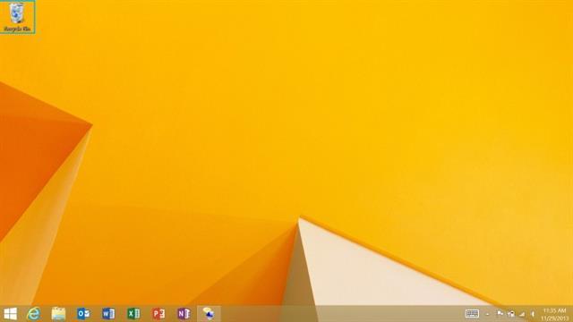 Giao diện Desktop trên Surface 2