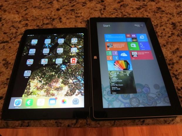 Surface 2 đọ dáng cùng iPad Air