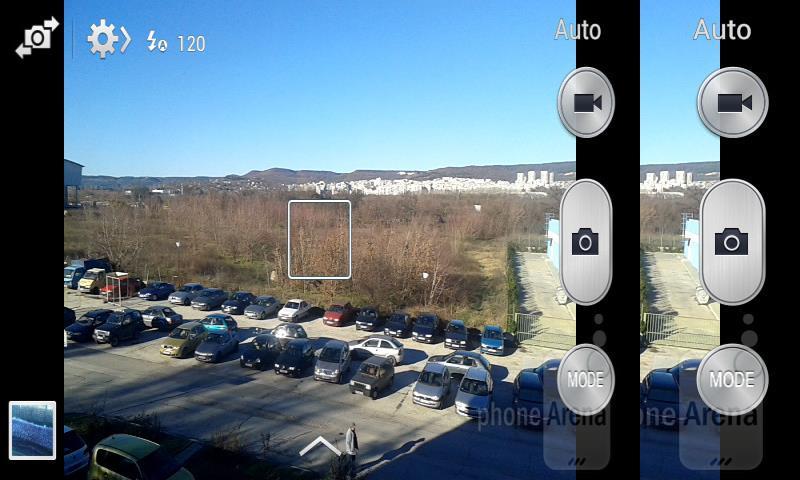 Giao diện chụp ảnh trên Android 4.2.2 của Galaxy Trend Plus