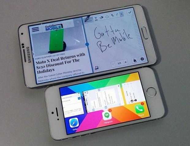 Galaxy Note 3 và iPhone 5S