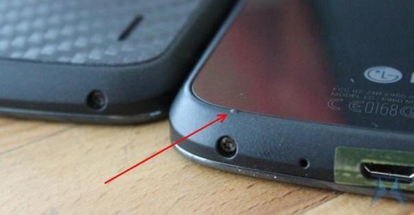 Vỏ Nexus 4 bị lỗi