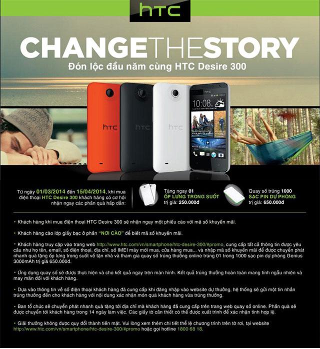 Đón lộc đầu năm cùng HTC Desire 300