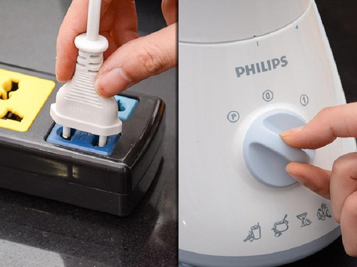 Một số nguyên tắc an toàn khi dùng máy xay sinh tố