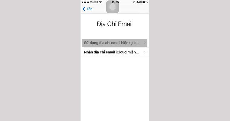 Sử dụng mail hiện tại