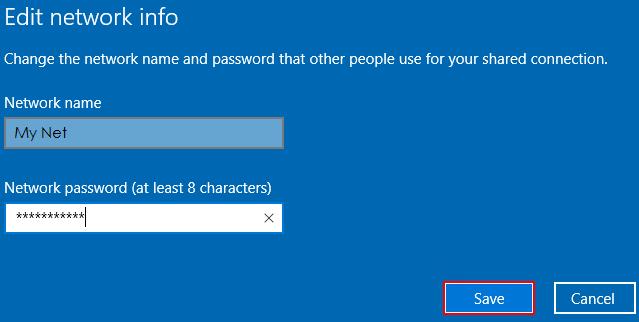 Nhập Network name và pass