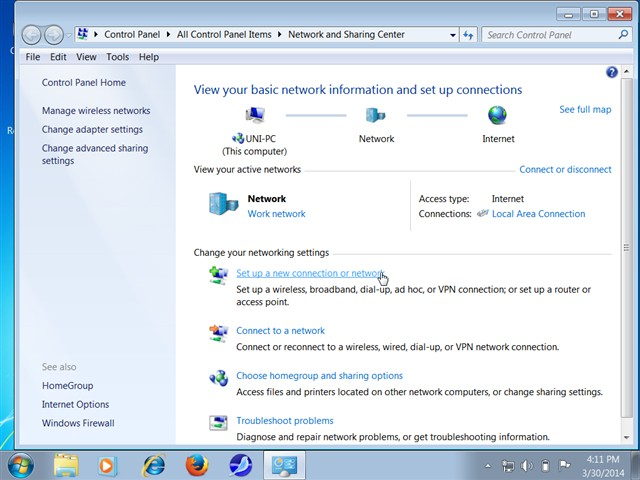 cách phát wifi từ laptop trên Windows