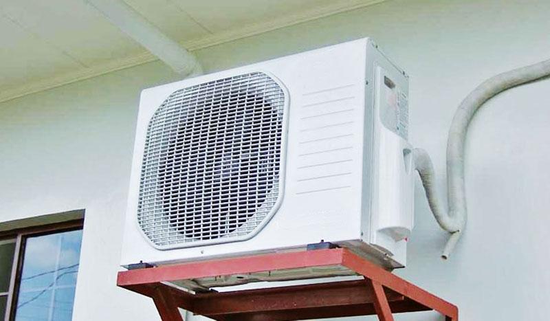 Lắp cục nóng ở nơi mát mẻ, tránh ánh sáng mặt trời và cách tường 30cm