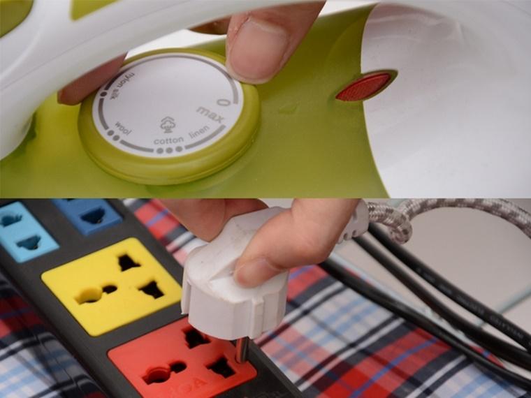 Sau khi sử dụng xong, vặn núm vặn về vị trí Min và rút điện ra khỏi ổ cắm