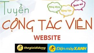 Tuyển CTV hỗ trợ khách hàng qua website
