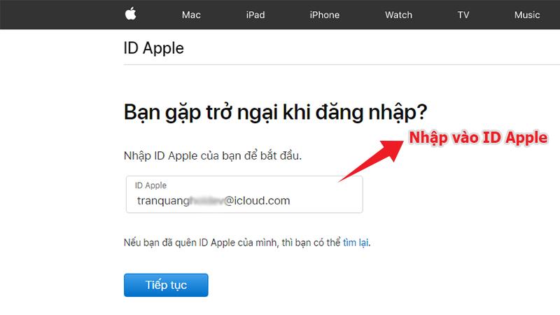 Cách lấy mật khẩu ID iCloud Apple bị mất