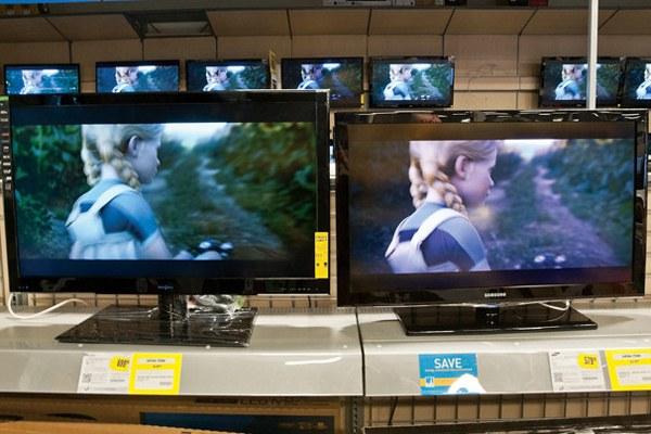 So sánh các tivi đặt gần nhau là cách tốt nhất để kiểm tra các thiết lập hình ảnh
