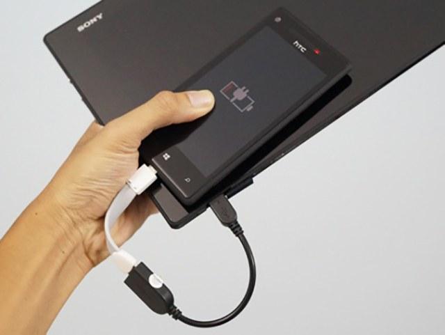 Sạc pin dễ dàng cho điện thoại thông qua cap OTG