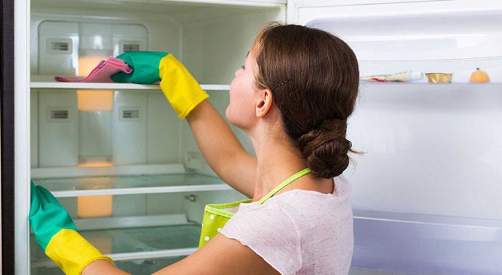 Không vệ sinh tủ lạnh thường xuyên