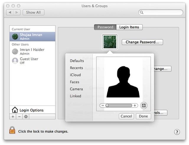 Cách xóa và thay ảnh đại diện trên Mac OS