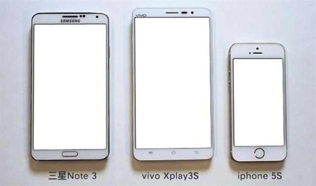 Samsung Galaxy Note 3 đọ màn hình với Vivo Xplay 3S và iPhone 5S