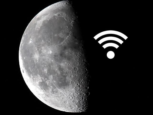 Kết quả hình ảnh cho mặt trăng có wifi
