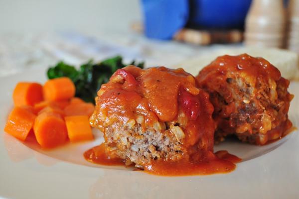 Bước 3 Thành phẩm thịt bò viên xốt tương cà bằng lò nướng