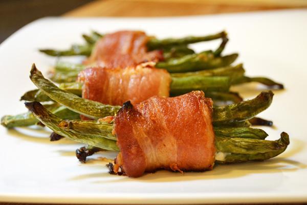Bước 5 Thành phẩm thịt xông khói cuốn đậu xanh bằng lò nướng