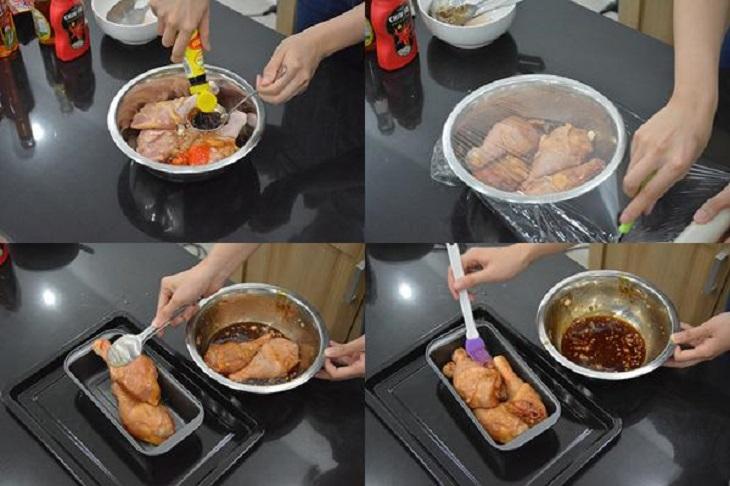 Bước 1 Ướp gà đùi gà nướng mật ong bằng lò nướng