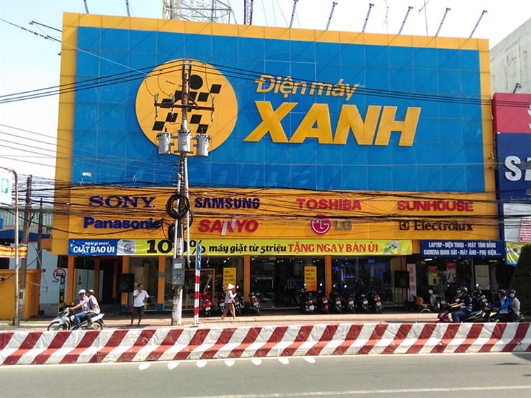 Siêu thị điện máy xanh tại 210 Lê Thái Tổ, Phường 2, Thành Phố Vĩnh Long