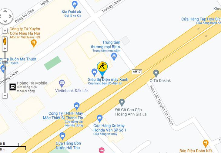 Bản đồ đến siêu thị Điện máy XANH tại 37 Nguyễn Tất Thành, Phường Tân Lợi, Thành Phố Buôn Ma Thuột, Tỉnh Đăk Lăk
