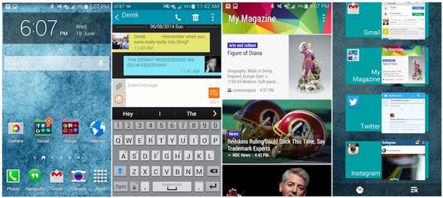 Máy khởi chạy cùng nền tảng Android 4.4.2 KitKat với giao diện TouchWiz mới nhất của Samsung