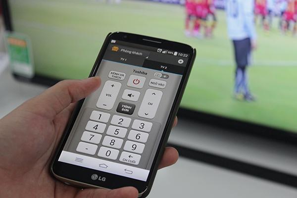 Màn hình chính của Quick Remote cho phép người dùng sẵn sàng điều chỉnh
