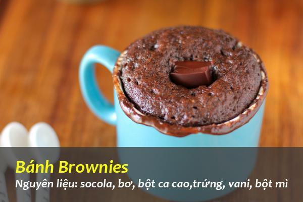 Ngọt ngào bánh Brownies hương vị Caramen