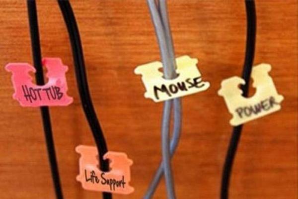 Đặt tên cho từng loại dây để dễ nhận biết