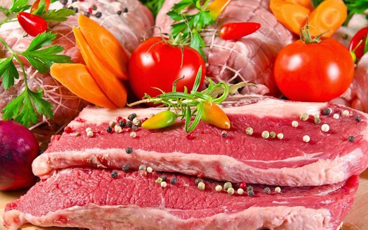 Kết quả hình ảnh cho Các món ăn được chế biến từ các loại thịt như thịt heo, bò, gà