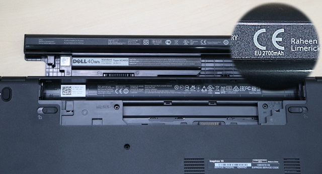 Pin gắn trên Dell Inspiron 3542