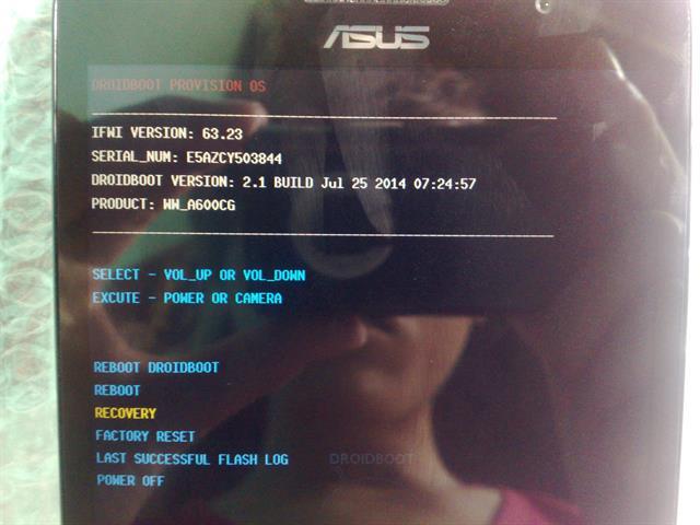 Môi trường Droidboot Provision OS trên Asus Zenfone 6