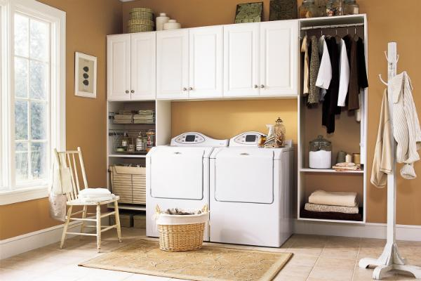 Phòng giặt ủi là nơi ít ai quan tâm nên không cần quá gọn gàng
