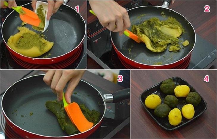 Cách làm bánh dẻo trà xanh mùa Trung Thu