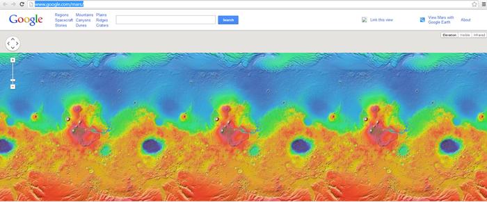Bản đồ sao hỏa của Google