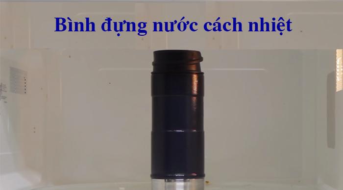 2. Bình đựng nước cách nhiệt