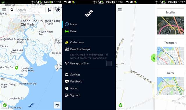 Dùng thử Nokia HERE Maps trên máy Android khác