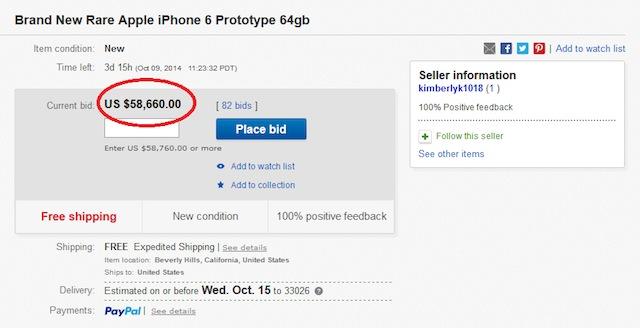 Chiếc iPhone 6 kỳ lạ có giá siêu cao