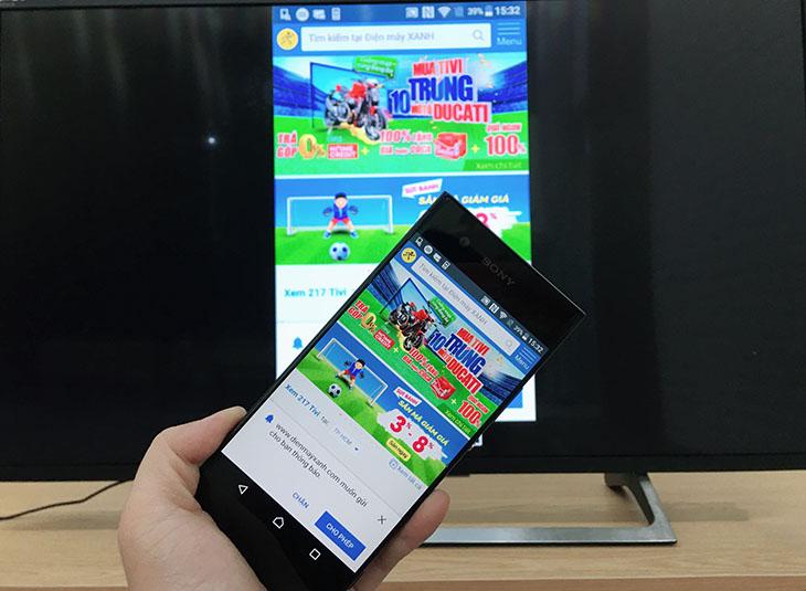 Trình chiếu nội dung từ điện thoại lên màn hình tivi